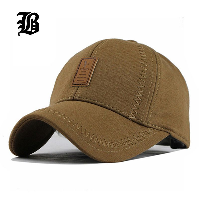 793600779e6e3  FLB  Wholesale Brand Hat Cap Warm Thickened Cotton Baseball Cap Bone  Snapback Golf Cap Women Knitted Hat Fitted Hats for Men