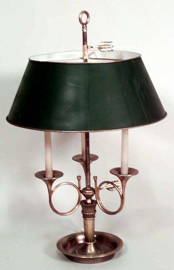 French Empire lighting bouillotte lamp brass French