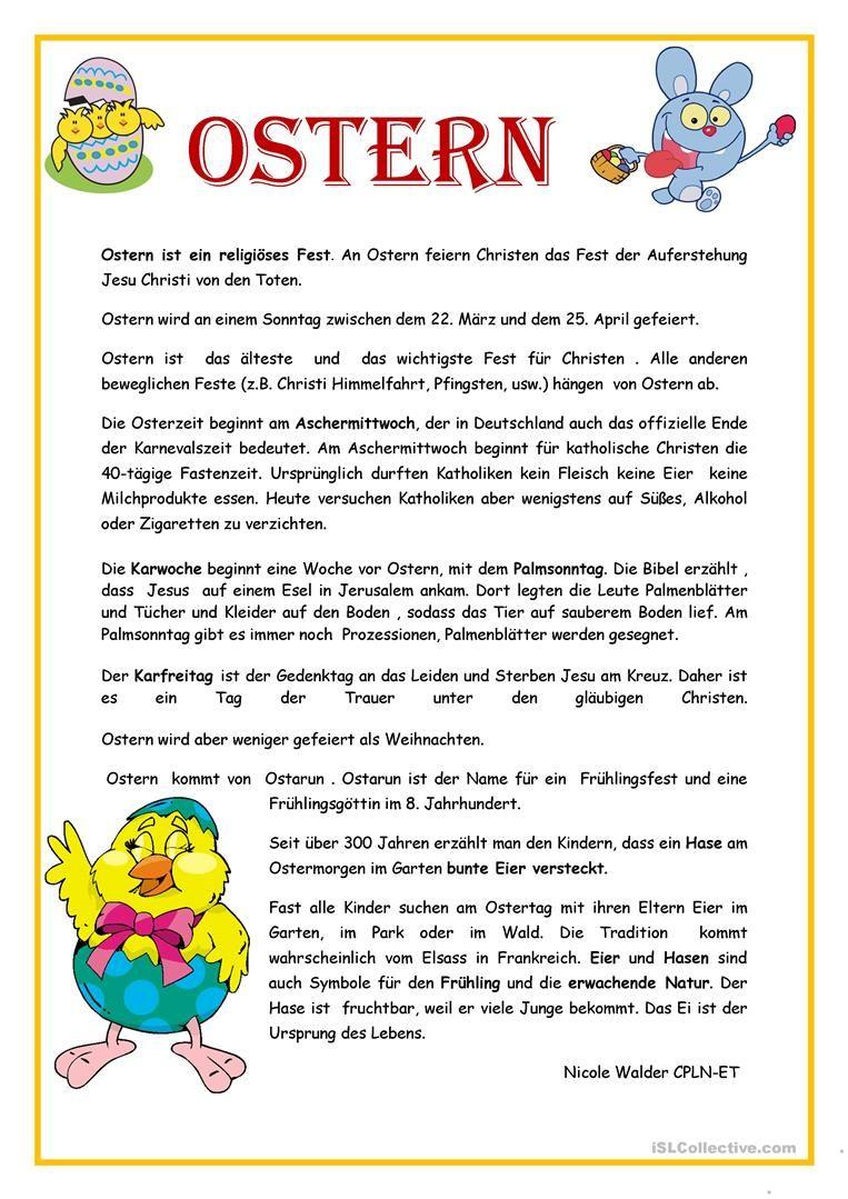 OSTERN   Ostergeschichte für kinder, Ostern lieder, Ostern