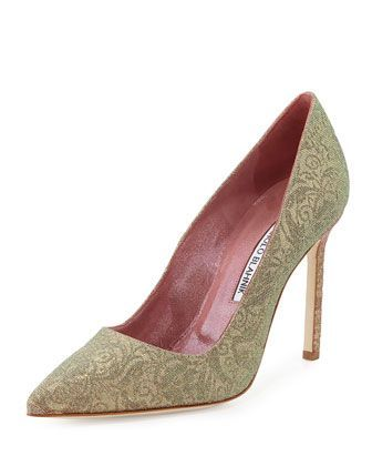 outlet with paypal Manolo Blahnik Iridescent Pointed-Toe Pumps cheapest price cheap online Ar5jNtY6nb