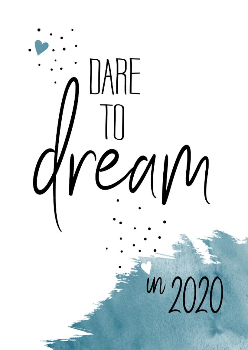 Nieuwjaar Dare To Dream In 2020 Nieuwjaarskaarten Nieuwjaar Spreuken Ansichtkaart