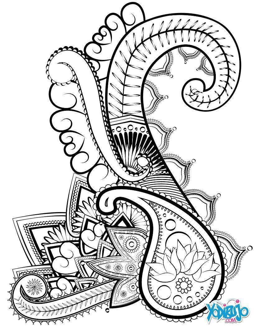 Dibujo para colorear relajante | Colorear para adultos | Pinterest ...