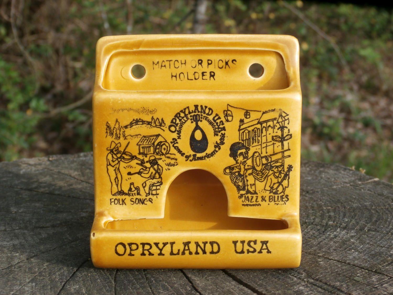 Vintage Opryland USA Souvneir Match Holder, Ceramic Wall Hanging ...