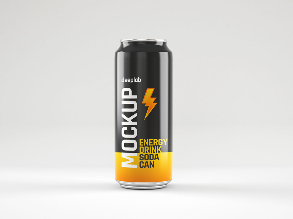 Glossy Soda Can Free Mockup Dealjumbo Com Discounted Design Bundles With Extended License In 2021 Canning Soda Can Energy Drinks