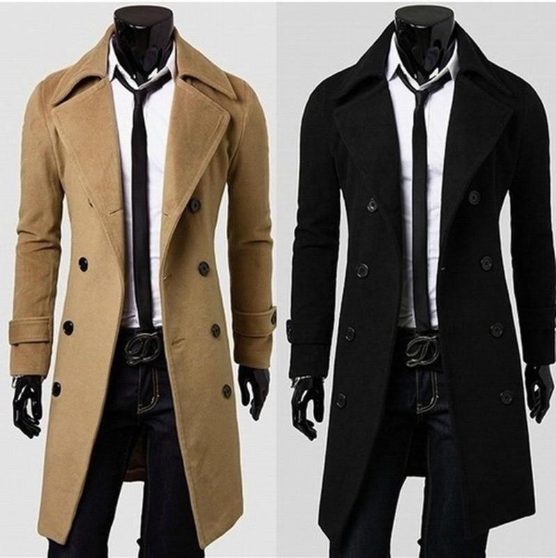 76b052afa38d Mens Trench Coat 2018 New Fashion Designer Men Long Coat Autumn Winter  Double-breasted Windproof