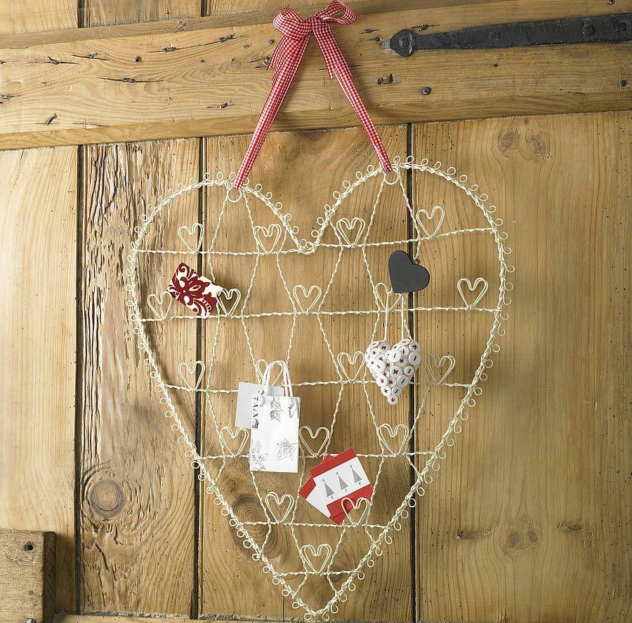 Cream Wire Christmas Card Holder | ☼ tell-tale HEART ☼ | Pinterest ...