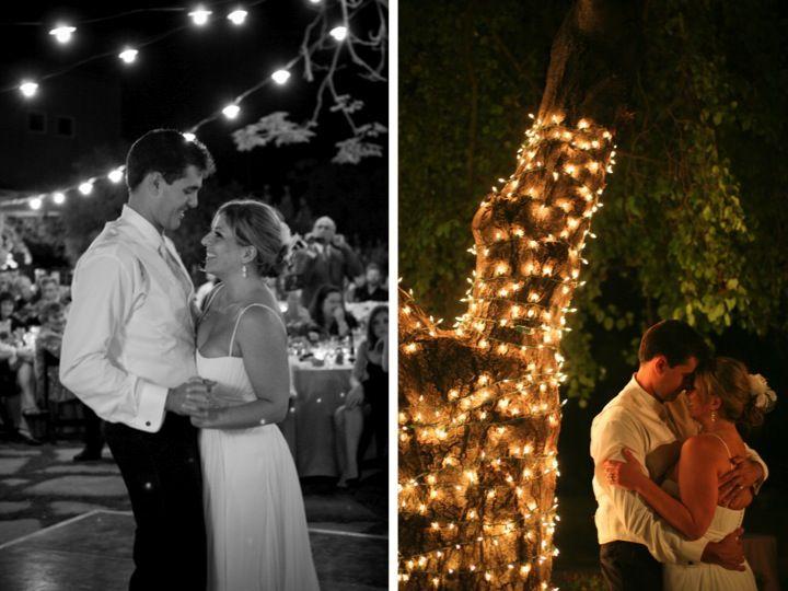 twinkle lights in trees