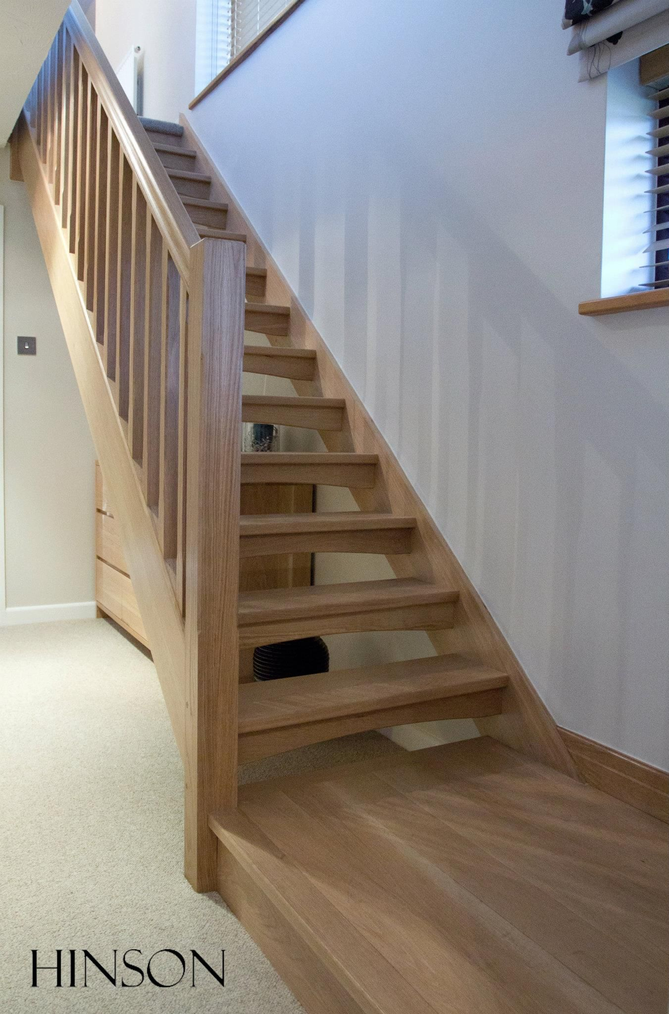 Open Riser Solid Oak Stairs Edited Open Stairs Attic