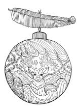 Erwachsenen Malvorlage Weihnachtsbaumkugel