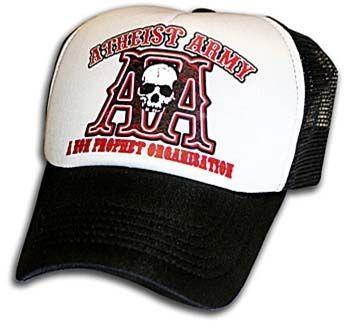 58ef01fc10f Atheist Army Trucker Hat by Toxico Clothing