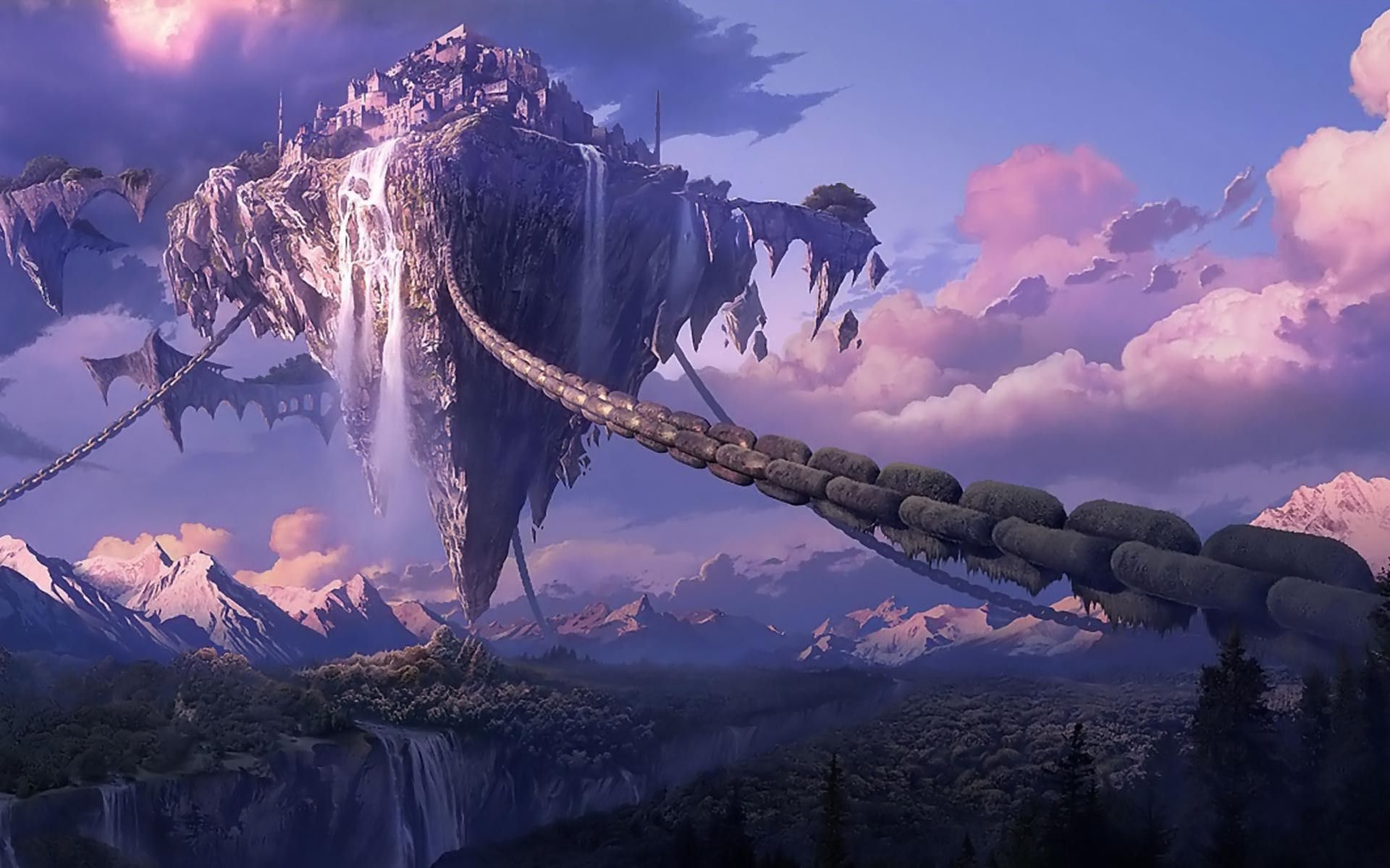minecraft floating castle Google Search Fantasy