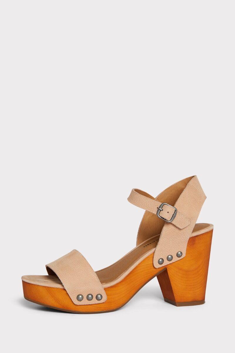 Trisa Wood Sandal   Wood platform