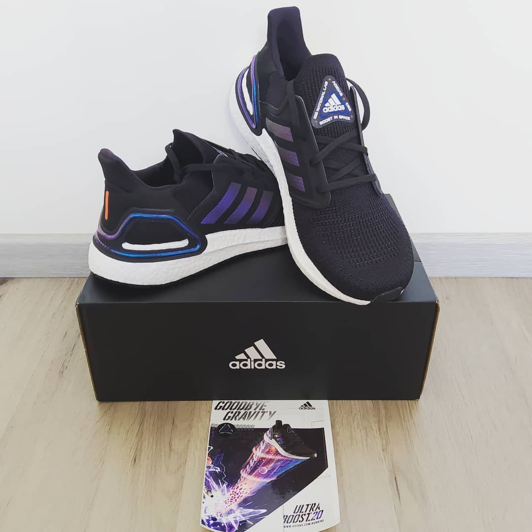 Featuring my new pair of Adidas UltraBoost 20 shoes that I
