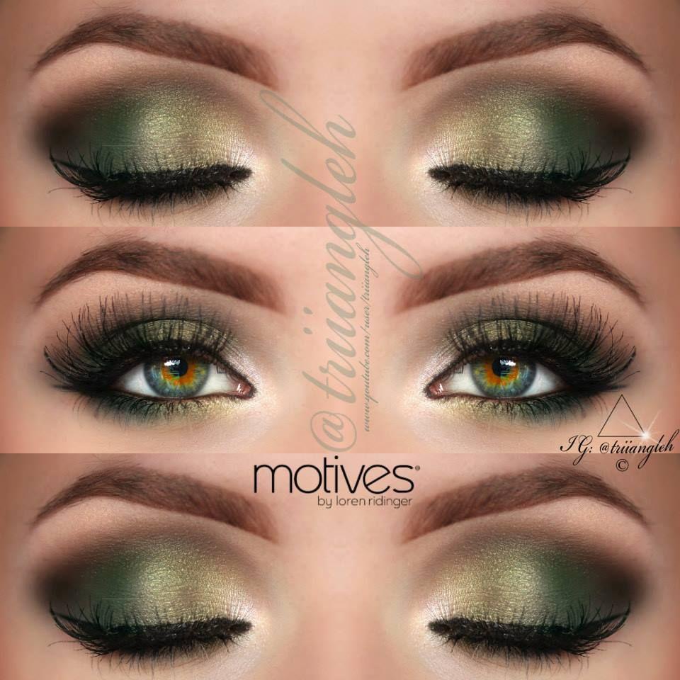 green makeup for green eyes Triiangleh Hazel eye makeup