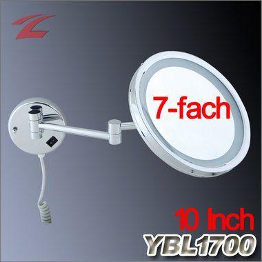 Badezimmerspiegel für Rasur und Schminken, Wandspiegel, mit LED