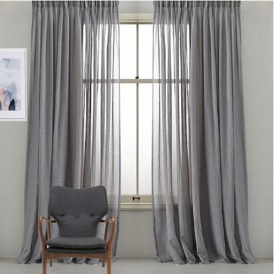Awesome BRISTOL Pinch Pleat Sheer Curtains Grey