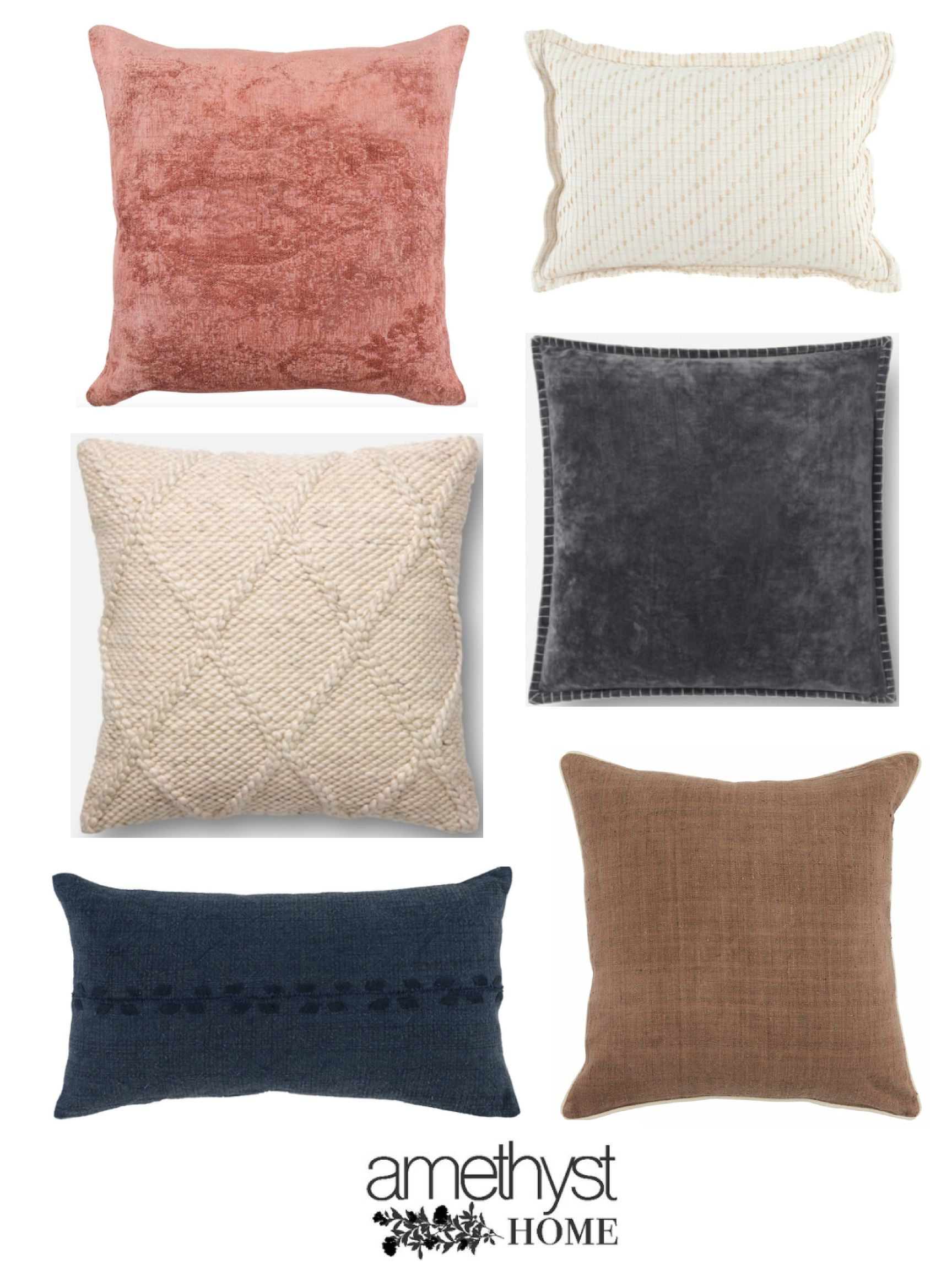 Darling Selection Of Throw Pillows From Amethyst Home I Love The