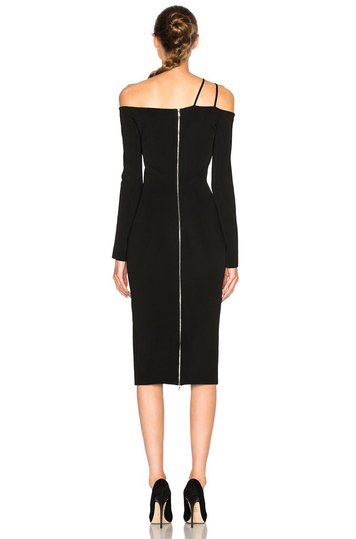 David Koma Off Shoulder Dress in Black FWRD My Style Pinterest