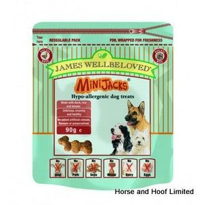 James Wellbeloved Mini Jacks Duck Dog Treats 90g Dog Food Dog