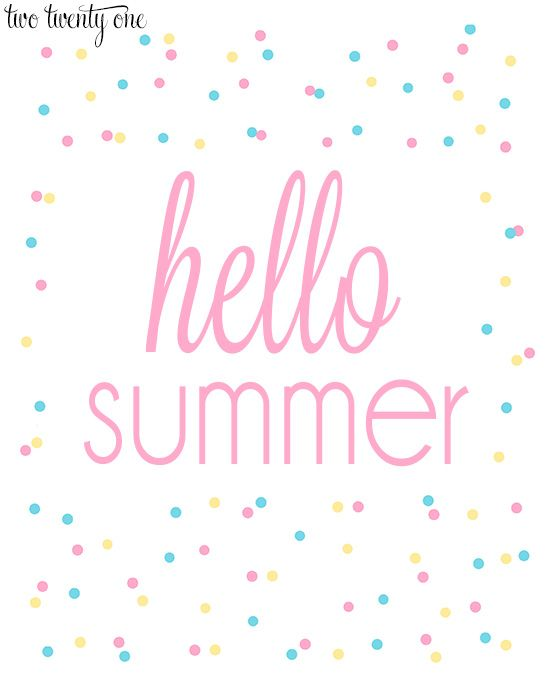 Free Summer Printables With Images Summer Printables Free