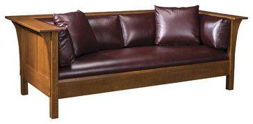 Stickley Furniture Leather Mission Sofa Furniture Mission