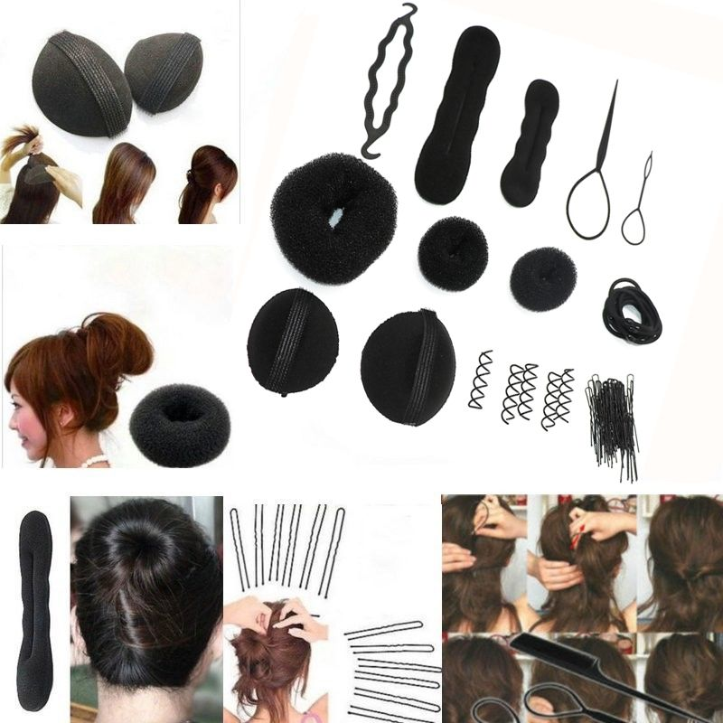 Only $6.99 , 1Set Sponge Disk Hair Pull Hair Pin Head To Weave ...