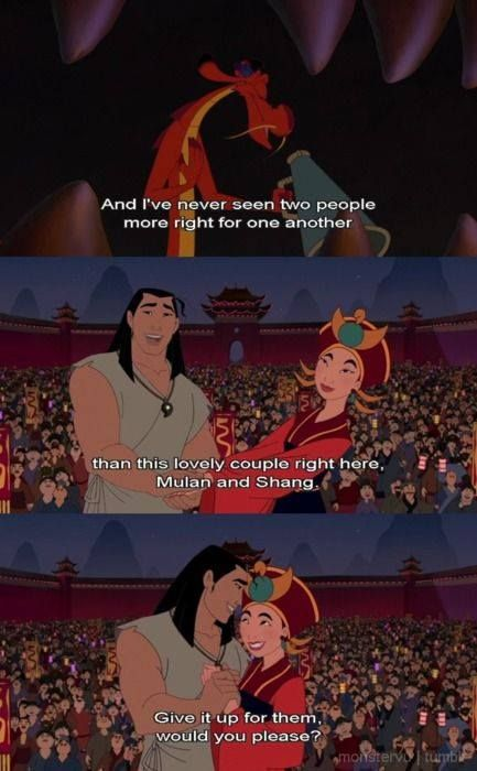 Mulan 2 - Mulan and Shang are so perfect!!