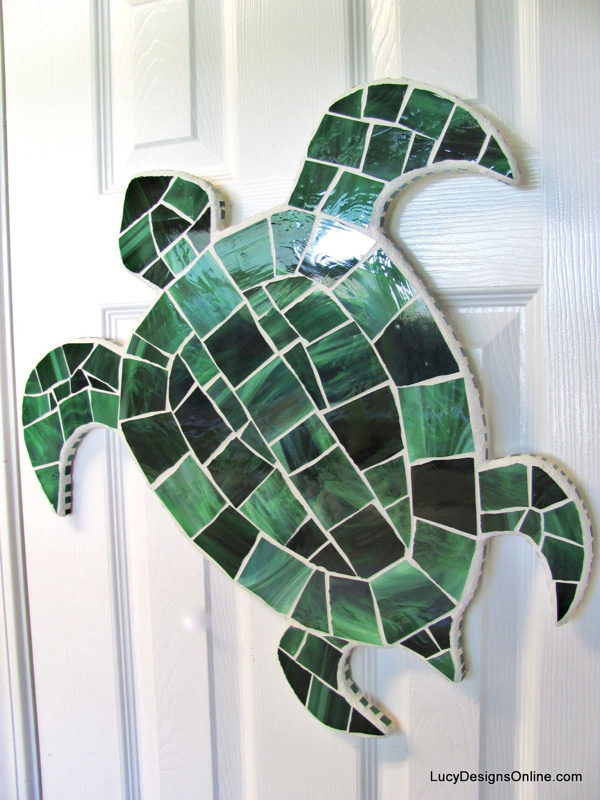Sea Turtle Bathroom Accessories Stained Glass And Seashell Mosaic Sea Creatures Octopus
