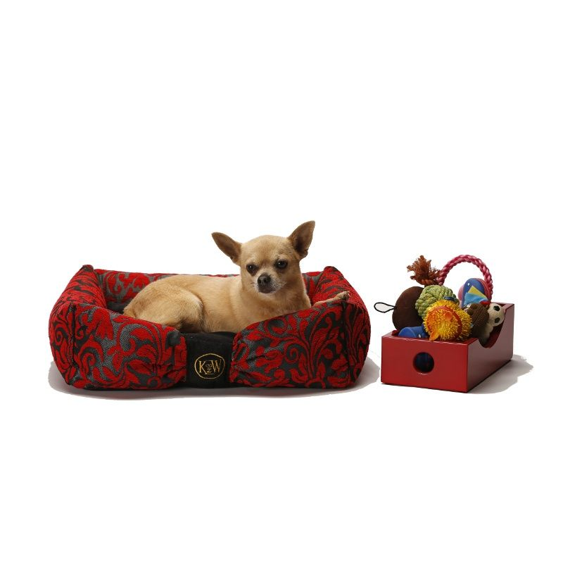 Attraction Dog Bed Ruby Red Chenille Dog Bed Dogs Ruby Red