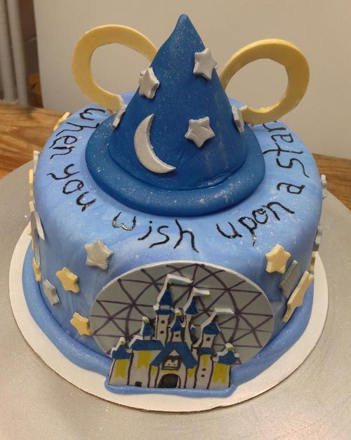 sweetavenuebakeshop Danielles Disney World themed birthday cake