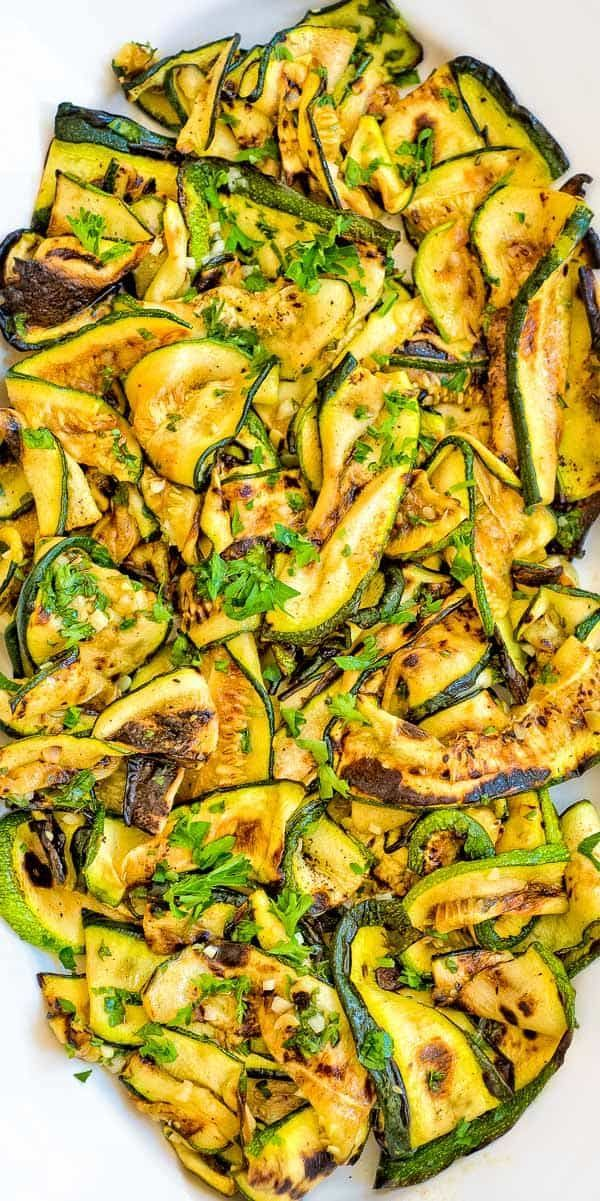 This Ultimate Zucchini Salad is so flavorful and healthy, you'll want to make it all summer long! Seasoned with lemon-parsley dressing, it requires only 5 ingredients! Ultimate Zucchini Salad is so flavorful and healthy, you'll want to make it all summer long! Seasoned with lemon-parsley dressing, it requires only 5 ingredients!
