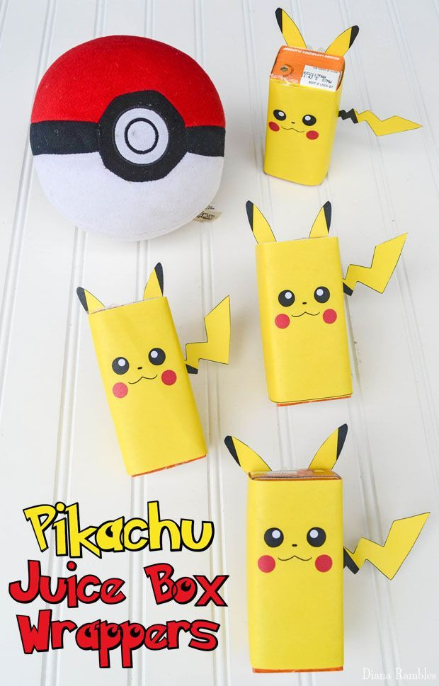 Free Pikachu Juice Box Wrappers Printable Download These