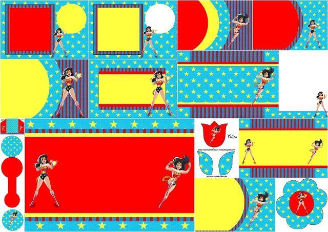 Wonder WomanFree Printable Invitations dolls for Sol