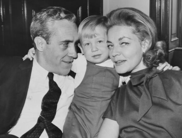 Lauren Bacall with her second husband Jason Robards and their son Sam
