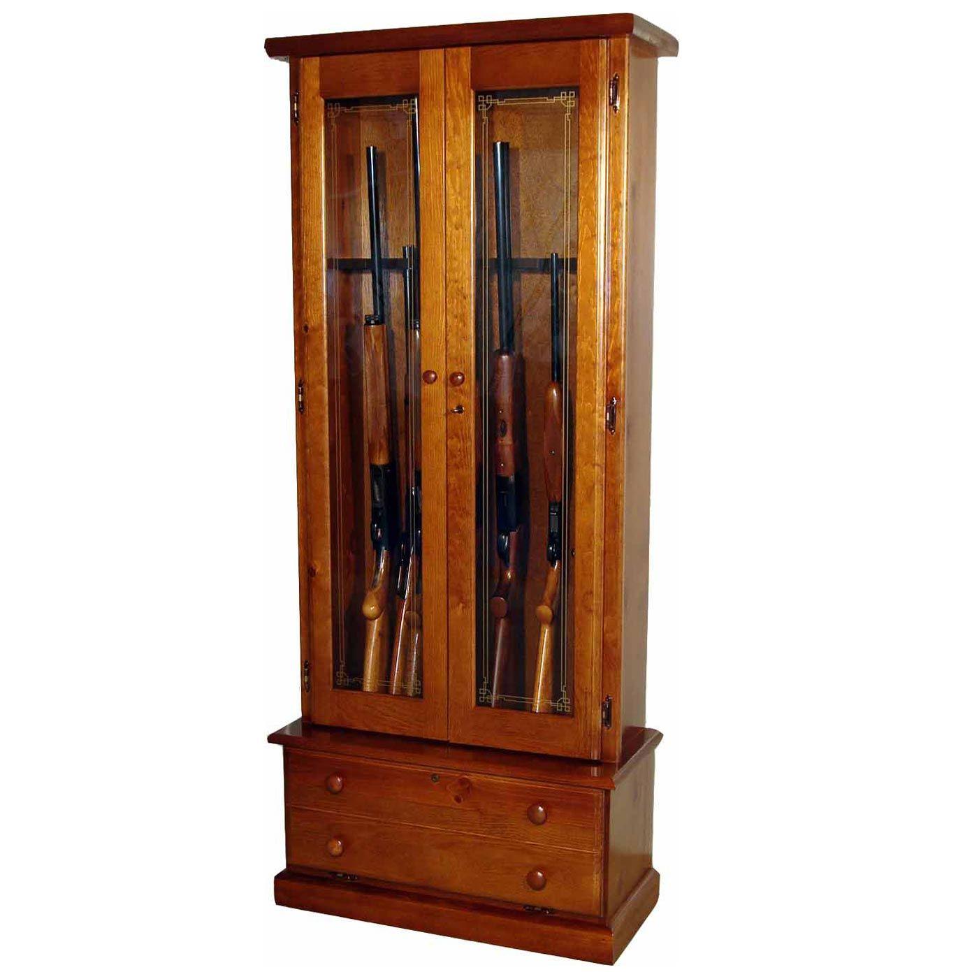 Scout 1119 Gun Cabinet Solid Pine 12 Gun