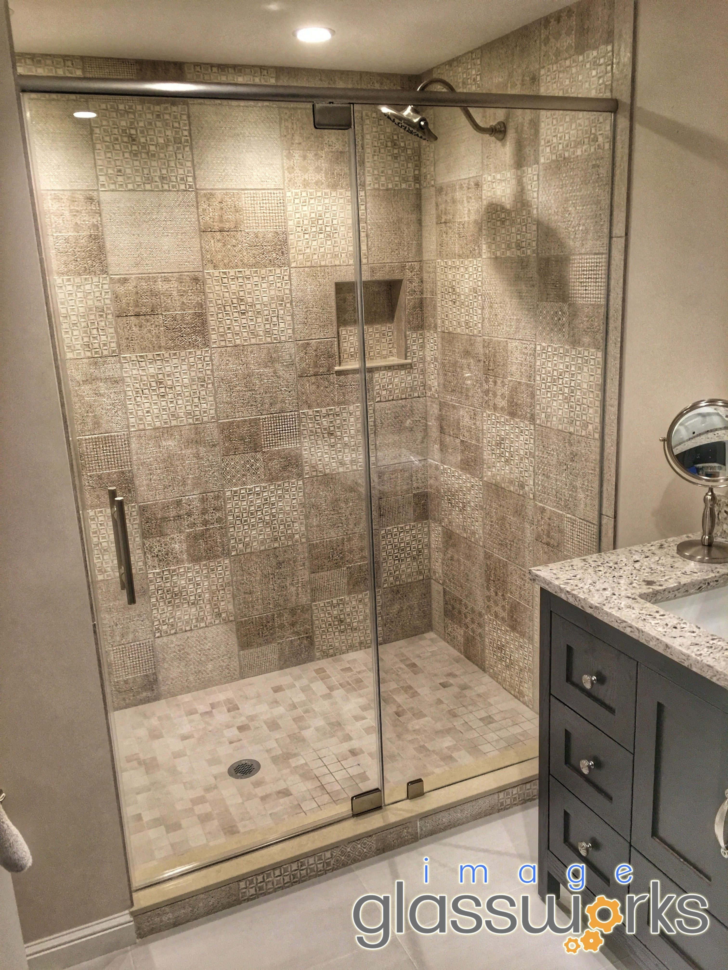 Incredible Low Iron Glass Shower Enclosure Installed With A Header