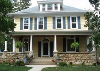 Pin By C Mccaul On Yellow Gray Ideas Yellow House Exterior Exterior Paint Colors For House House Exterior