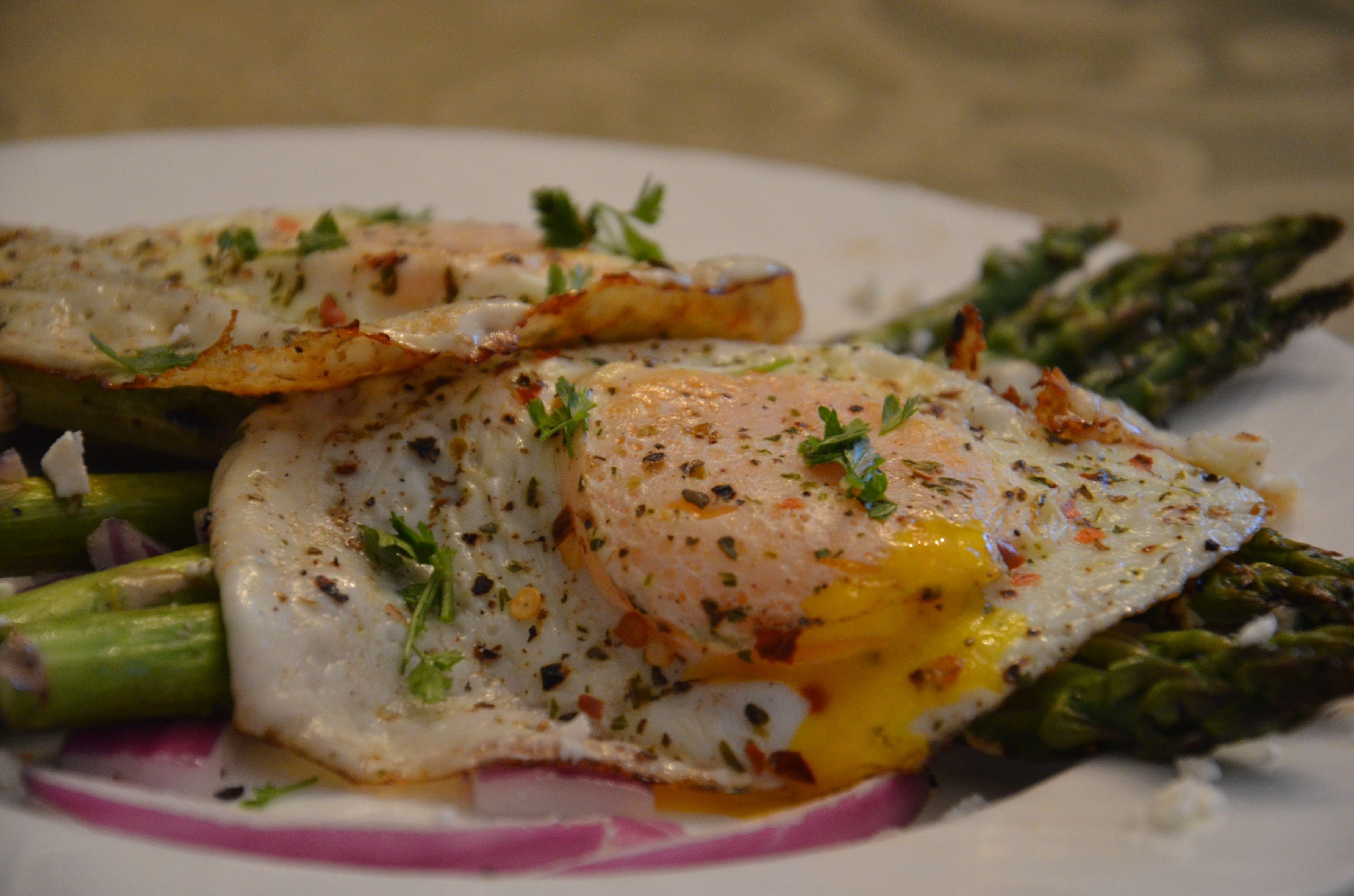 Breakfast: Eggs with Asparagus