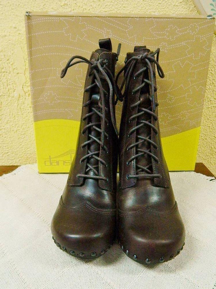 Dansko Nat Lace Up Granny Wingtip Boots