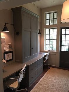 Beautiful Home Office Built In Desk