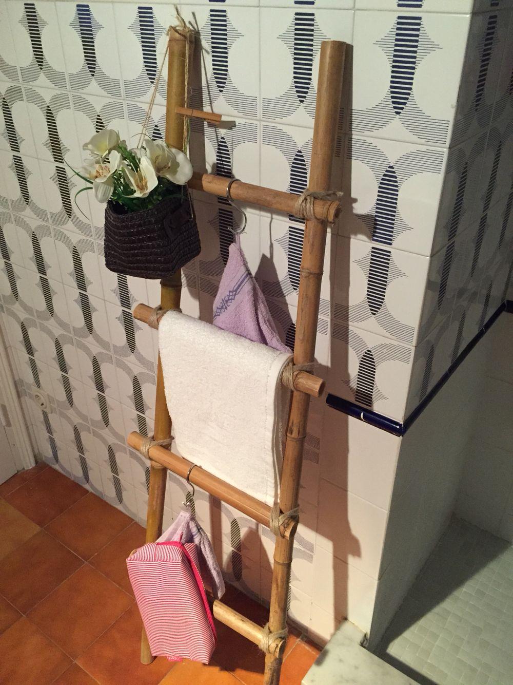 Escalera Ca De Bamb. Bamboo Ladder Eaglecrest Home