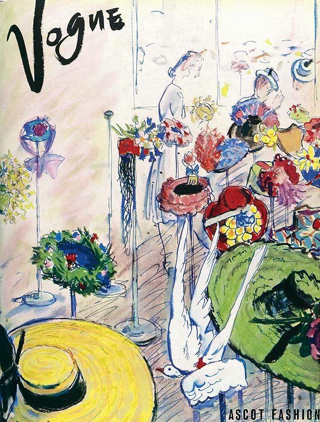 Vogue May 1939  editor ElizabethPenrose   fashion illustration RenéRobertBouché