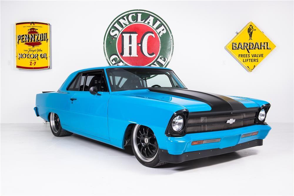 1968 Teal Chevy Pickup Truck a Custom Hot Rod Garage T-Shirt 68 Muscle Car Tees