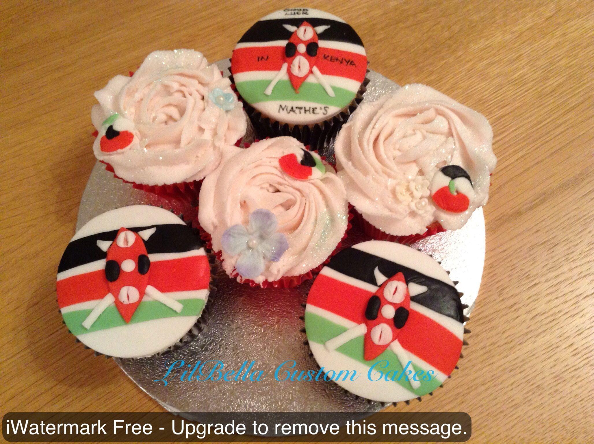 Kenyan Bon Voyage Cupcakes For The Lovely Mathe S Cupcakes