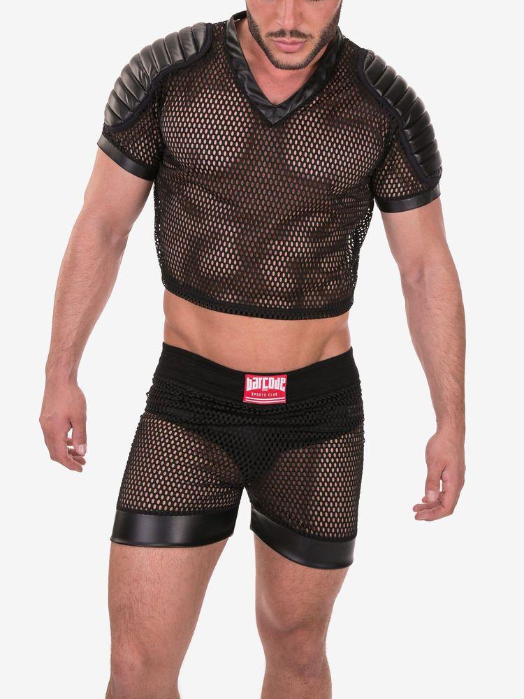 Barcode Berlin Mesh Shirt Hias Schwarz 91373 100 Gay Sexy Brandneu