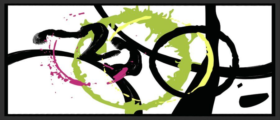 Circular Pass II Framed Graphic Art