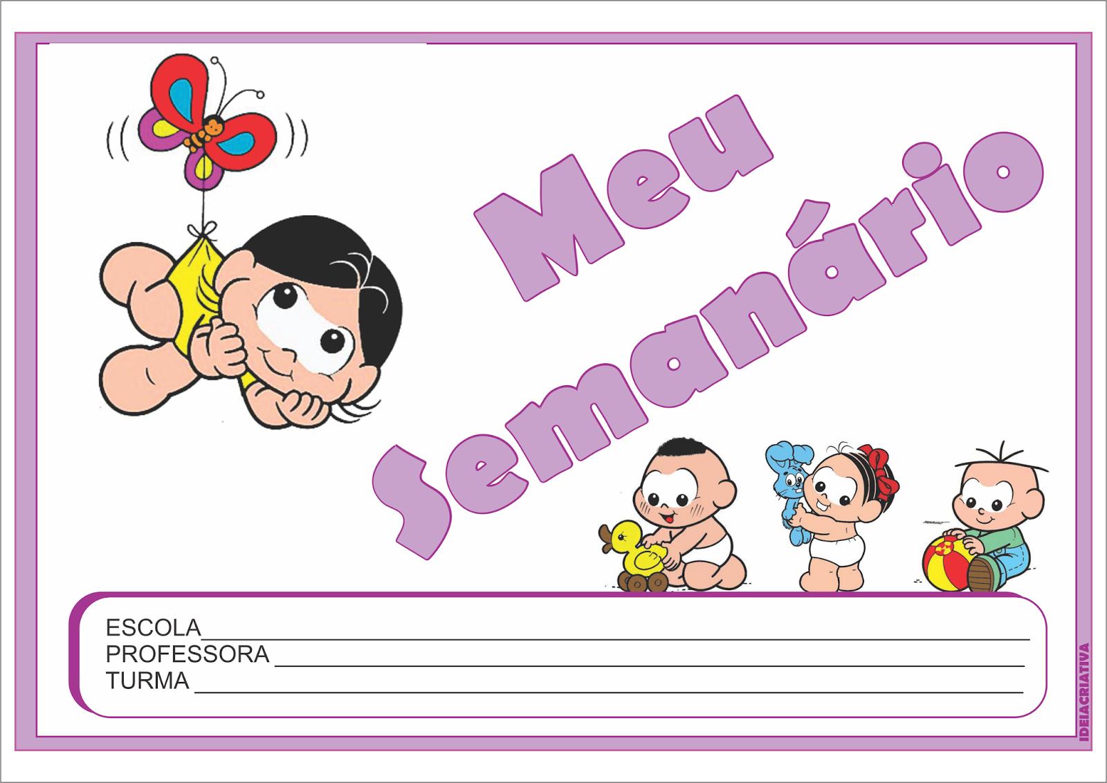 Extremamente Modelo de Semanário para Educação Infantil Fichas para Imprimir  LP15