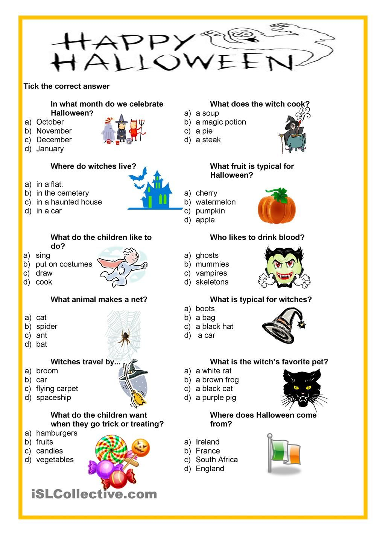 Happy Halloween - quiz (With images) | Škola, Němčina ...