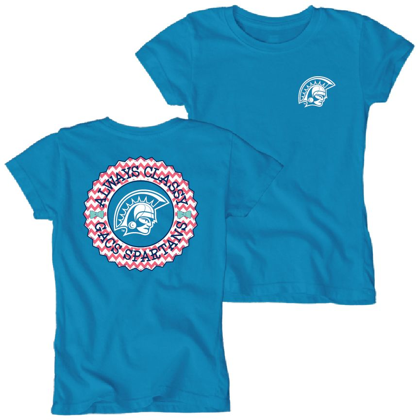 37359b591b98 Blue 84 by Lake Shirts youth girls dyed tshirt in turquoise ...