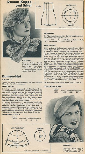 free vintage crochet and knitting pattern | Häkeln: Vintage ...